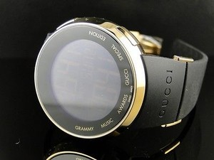 Gucci Mens Ya114215 I Gucci Digital Grammy Gold Finish Watch