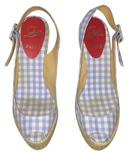 Christian Louboutin Blue and white Wedges Image 1