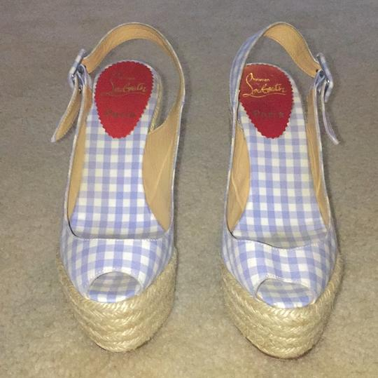 Christian Louboutin Blue and white Wedges Image 2