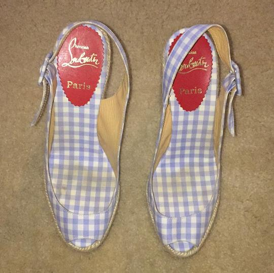 Christian Louboutin Blue and white Wedges Image 3