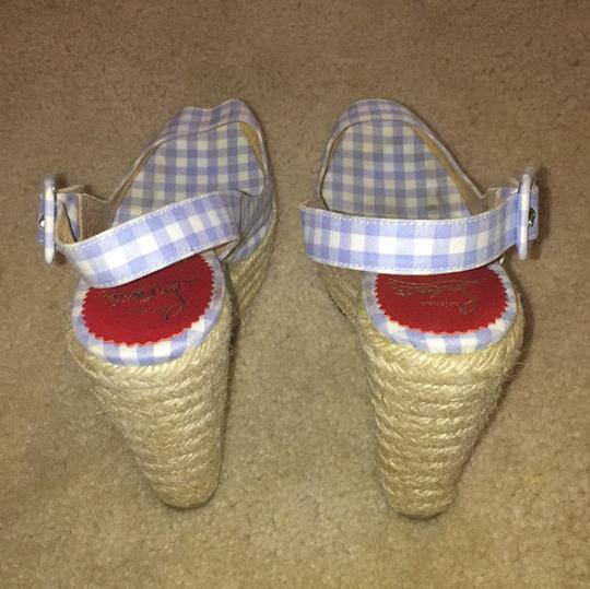 Christian Louboutin Blue and white Wedges Image 4