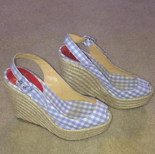 Christian Louboutin Blue and white Wedges Image 6