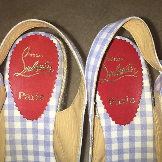 Christian Louboutin Blue and white Wedges Image 7
