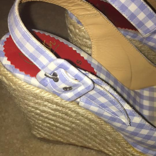 Christian Louboutin Blue and white Wedges Image 8