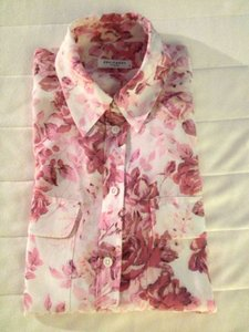 Equipment Femme Floral Silk Blouse Professional Button Down Shirt Floral Print