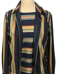 Faonnable Button Down Shirt Multicolored