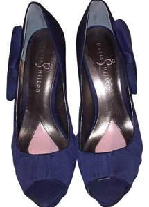 Paris Hilton Navy Blue Pumps