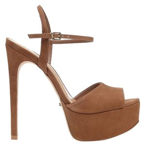SCHUTZ Peep Toe Heels Saddle Sandals