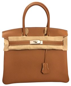 Herms Tote in Gold37