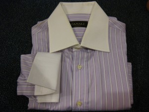 Canali Canali French Cuff 100% Cotton L/s Dress Shirt Sz 15.5/39 33-34