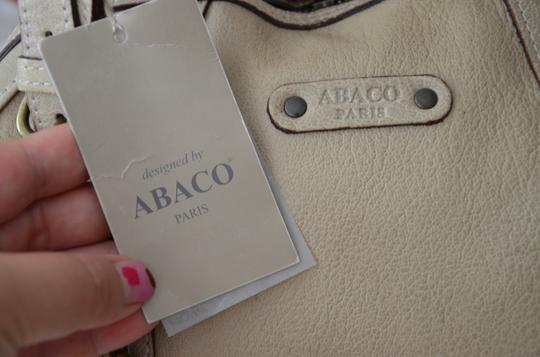 ABACO Made In France Python Snakeskin Satchel in White Beige Image 10
