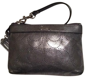 Coach Wristlet in Metallic Silver