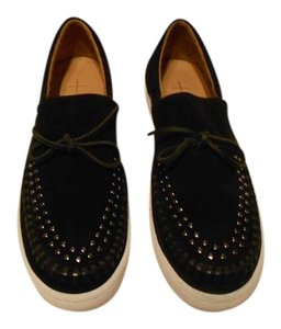 Thakoon Addition Head Studs Top Stitching Goring Inserts Made In Portugal Women's Sneaker Black Flats