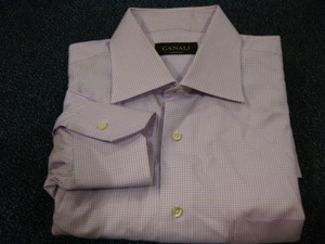 Canali Canali 100% Cotton L/s Dress Shirt Sz 16/41 33-34