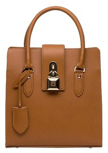 Patrizia Pepe Made In Italy Top Handle Satchel in Brown