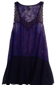 Free People Top Blue and Purple