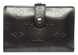 Louis Vuitton Louis Vuitton Steel Grey Embossed Vernis Leather Wallet. Lovely!