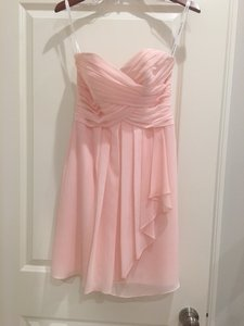 David's Bridal Petal Chiffon Formal Bridesmaid/Mob Dress Size 2 (XS)