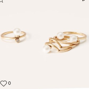 Ann Taylor LOFT Gold And Pearl Rings