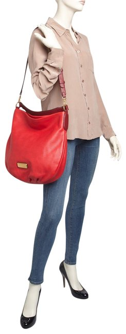 Marc by Marc Jacobs New Q Hillier Rosey Red Multi Leather Hobo Bag Marc by Marc Jacobs New Q Hillier Rosey Red Multi Leather Hobo Bag Image 1