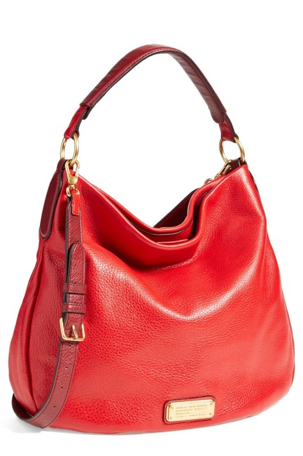 Item - New Q Hillier Rosey Red Multi Leather Hobo Bag
