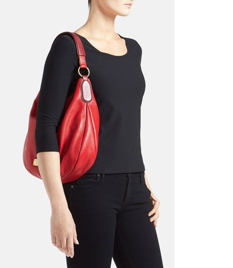 Marc by Marc Jacobs Leather Q Hiller Pebbled Leathr Style #: M0005340 Hobo Bag Image 9