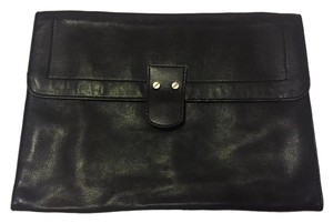 Michael Kors Pouch Vintage Leather Imported Black Clutch