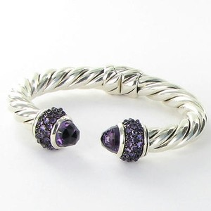 David Yurman David Yurman Bracelet Osetra 10mm Cable Bangle Amethyst