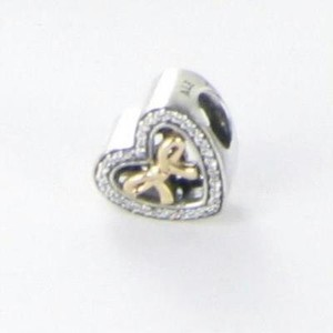 PANDORA Pandora Usb796200 Bead Charm Bound By Love 14k Yellow Gold 925 In Box