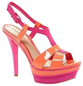 Gianni Bini Pink and Orange Platforms