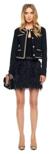 MICHAEL Michael Kors Ostrich Feather Mini Mini Skirt Black