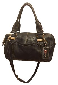 Tignanello Leather Satchel in Black