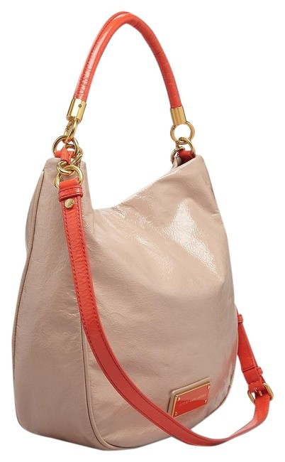 Item - Too Hot To Handle Light Taupe / Multi Patent Leather Hobo Bag