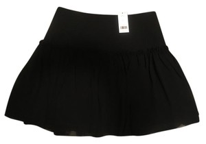 Banana Republic Drop Waist Mini Skirt black