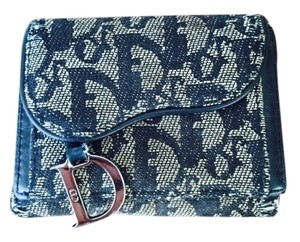 Dior Vintage Dior Saddle Wallet (Navy Denim Monogram)