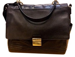 Badgley Mischka Softleather Tote Satchel in Black