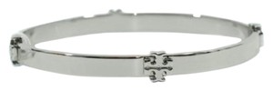 Tory Burch Tory Burch Logo Bangle Bracelet Silver