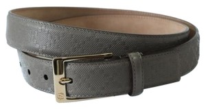 Gucci Gucci 345658 Unisex Square Buckle Diamante Leather Belt Grey 95-38