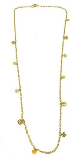 Tory Burch Tory Burch Logo Charm Rosary Necklace, Gold Image 1