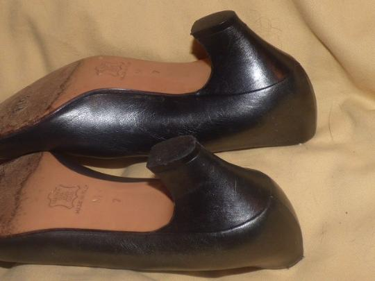 Saint Laurent Dressy Or Casual Made By Ysl Excellent Condition Almond Shape Toes Kitten Heels Silver/Pewter Pumps Image 1