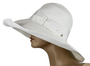 Gucci $435 New Gucci Women's White Straw Havana Hat w/Bow Size S 309138 9096