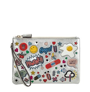 Anya Hindmarch Wristlet in Silver
