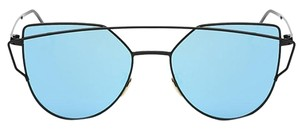 Blue Mirror Lens Sunglasses