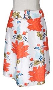 Talbots Skirt white orange