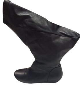 Rick Owens Wings Leather Black Boots