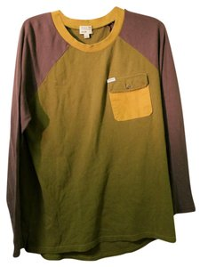 RVCA Pocket Longsleeve T Shirt Green/Brown