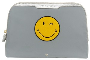 Anya Hindmarch Wink Smiley Face Tassel Lotions and Potions Make Up Pouch
