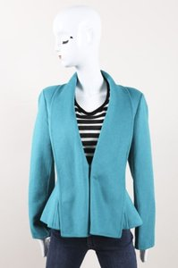 Oscar de la Renta Orlag Wool Blend Green Jacket