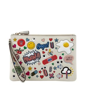 Anya Hindmarch Wristlet in Chalk
