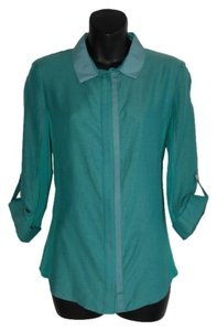 Elie Tahari Button Down Shirt green